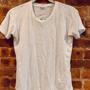 White Madewell basic tee